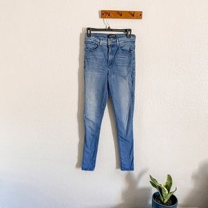 Express Light Wash High Rise Stretch Jeggings Sz 8